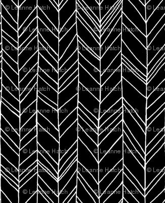 Featherland Large Black/White