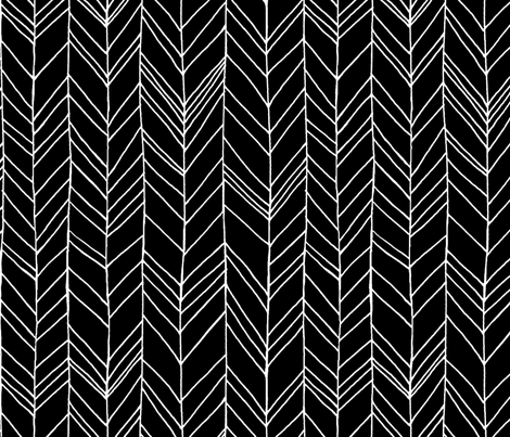 Featherland Large Black/White fabric by leanne on Spoonflower - custom fabric