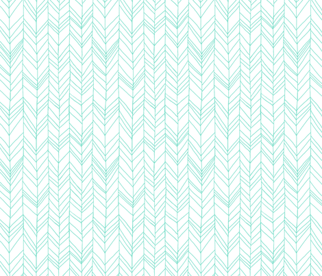 Featherland White/Mint fabric by leanne on Spoonflower - custom fabric