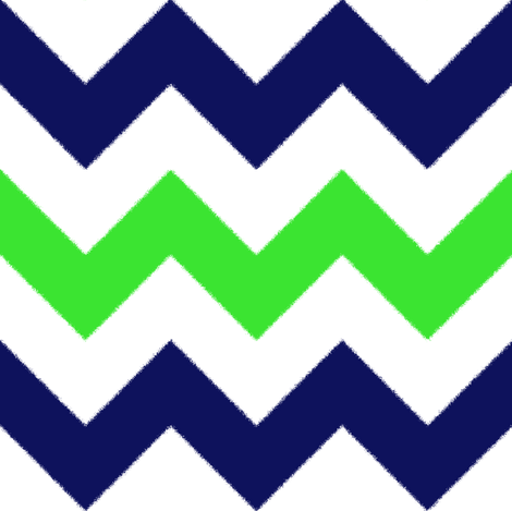 Blue and Green Chevron Stripes fabric by jessdesigned on Spoonflower - custom fabric