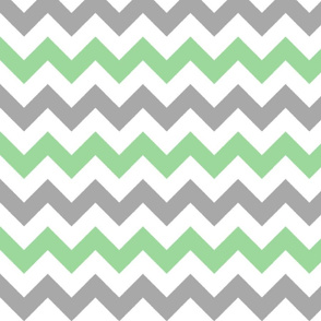Green and Gray Chevron Stripes