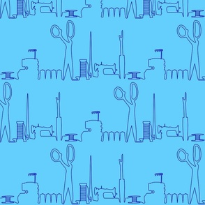 Sewing Skyline Blue