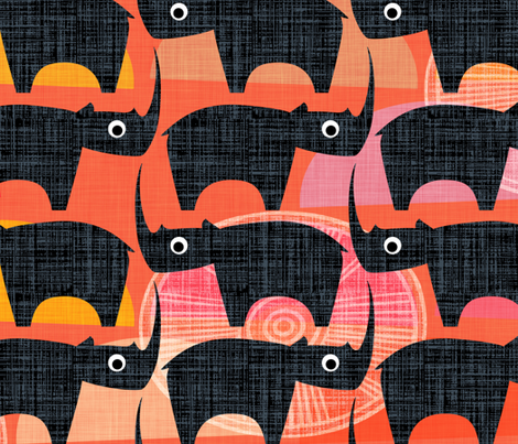 Black Rhino Sunset fabric by spellstone on Spoonflower - custom fabric