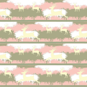 Cream Deer-stripes-pink