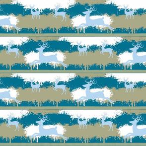 Blue Deer-stripes-aqua blue
