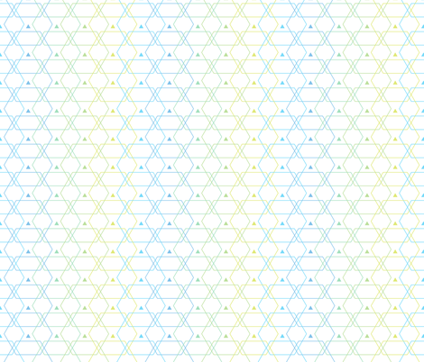Hexlines fabric by linkolisa on Spoonflower - custom fabric
