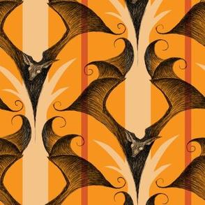 Stripes and Bats - pumpkin