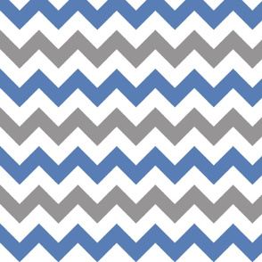 Grey and Blue Chevron Stripes
