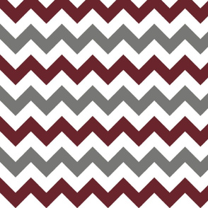 Grey and Burgundy Chevron Stripes