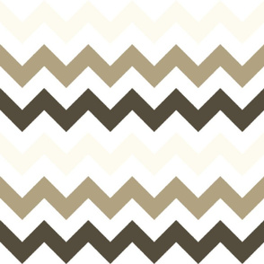 Off-White, Tan, and Brown Chevron Stripes