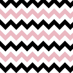 Pink and Black Chevron Stripes