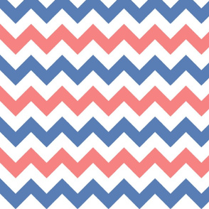 Red and Blue Chevron Stripes