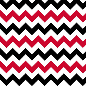 Red and Black Chevron Stripes