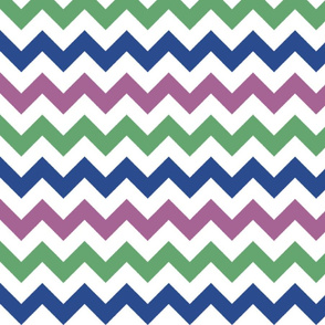 Purple, Green, and Blue Chevron Stripes