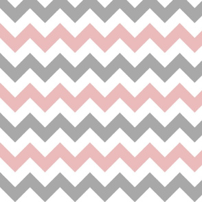 Pink and Gray Chevron Stripes