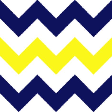 Yellow and Blue Chevron Stripes fabric by jessdesigned on Spoonflower - custom fabric
