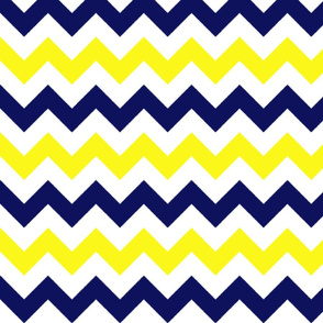 Yellow and Blue Chevron Stripes