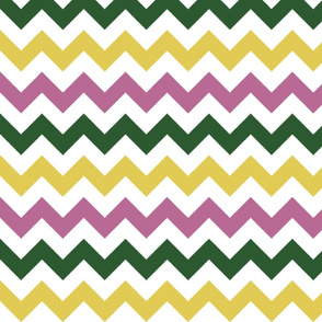 Pink, Green, and Yellow Chevron Stripes