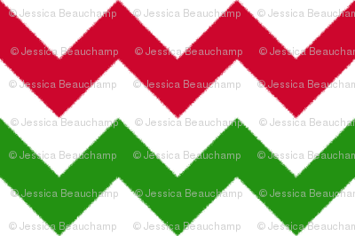 Red and Green Chevron Stripes