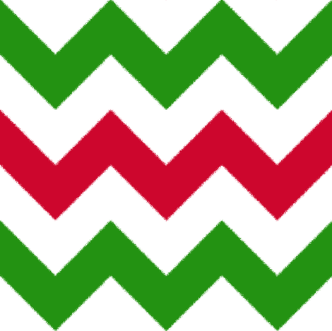 Red and Green Chevron Stripes fabric by jessdesigned on Spoonflower - custom fabric