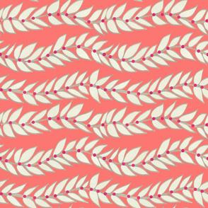 Leaf Dot Stripe Horizontal Coral