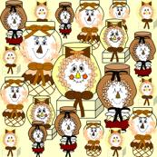 Scarecrow Heads Fabric
