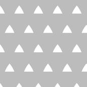 Triangle white on gray