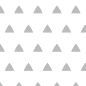 Triangles gray on white