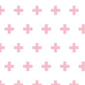 Crosses pink on white