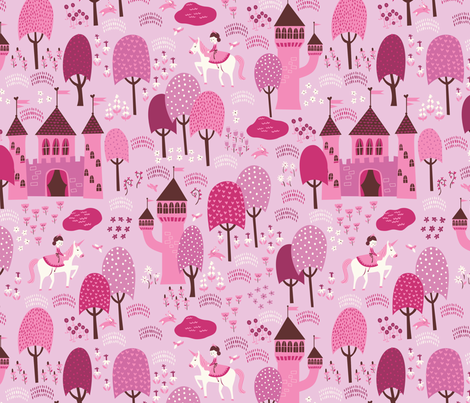 Enchanted_Forest_light fabric by stacyiesthsu on Spoonflower - custom fabric