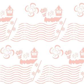 Surfing Waves-pink