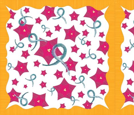 Ovcancer-scarf-36x36 fabric by dianakreider on Spoonflower - custom fabric