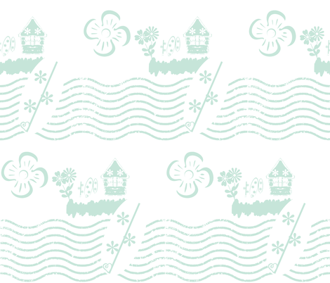 Surfing Waves-sea glass fabric by drapestudio on Spoonflower - custom fabric