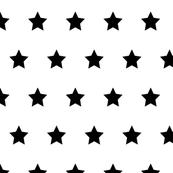 Stars black on white