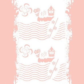 Surfing stripes pink - LG