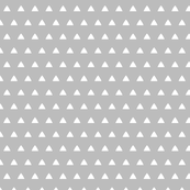 Triangles white on grey
