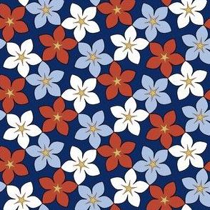 03245957 : S43 floral : bouquet noveau indigo