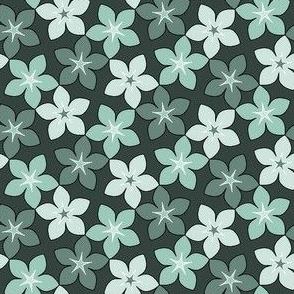 03245982 : S43 floral : pastel cyan-teal
