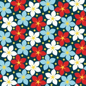 03245988 : S43 floral : nautical star-flowers dark