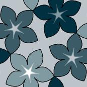 03246006 : S43 floral : fleurs noir