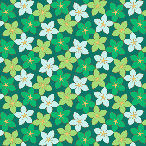 03246026 : S43 floral : deep forest flowers fabric by sef on Spoonflower - custom fabric
