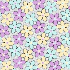 03246040 : S43 floral : star flowers