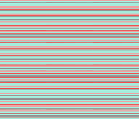 stripesonaqua fabric by zoeyheart on Spoonflower - custom fabric
