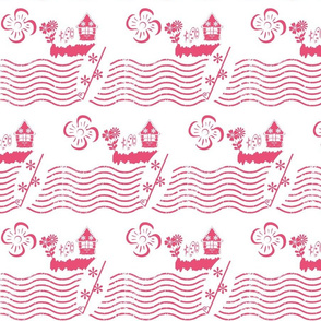 Surfing Waves-berry-small print