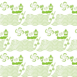 Surfing Waves- Key Lime-small print