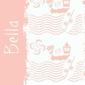 Surfing stripes pink-personalized BELLA