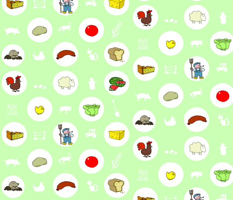 farming fabric by margreetdeheer on Spoonflower - custom fabric