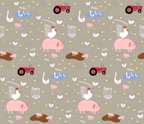 Farm Fresh! fabric by pattyryboltdesigns on Spoonflower - custom fabric