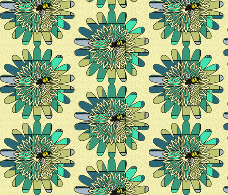 Flower Buzz fabric by cvoorhee on Spoonflower - custom fabric