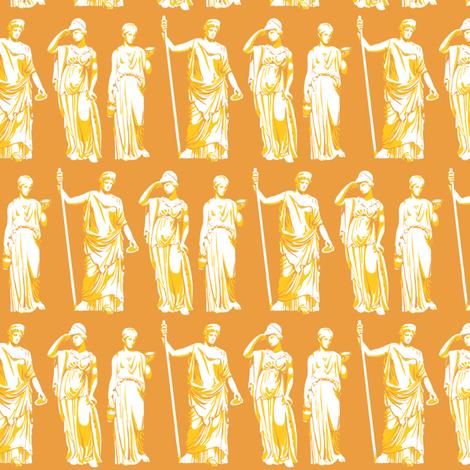 Kolonaki Goddess - Orange fabric by siya on Spoonflower - custom fabric